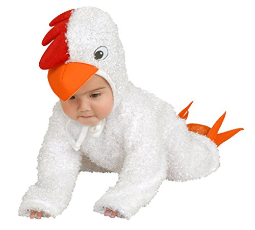 Charades Little Chick Costume-White-2T-4T