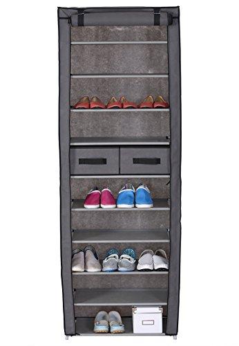 woltu ss5018gr 2 lot de 2 meuble chaussures pliant. Black Bedroom Furniture Sets. Home Design Ideas