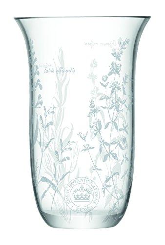 LSA International RGB Kew Wave jarrón, transparente, 23cm de alto