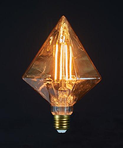 Glühfaden Diamant-Lampe LED Leuchtmittel 125x175mm LED Leuchte Dekolampe Bulb E27 2Watt 170lm 1800K (Halloween Fenster, Leuchten, Dekorationen)