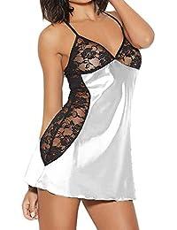Cebbay Lenceria Sexy Mujer Liquidación Ropa de Dormir Vestido Más Tamaño Traje de Dormir Lenceria Camisón de Costura de Encaje Disfraz de Babydoll Club