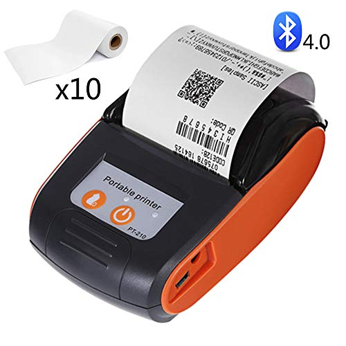 EJOYDUTY Mini-Bluetooth-Drucker, Thermobondrucker, 58 mm Pocket Mobile Personal Printer, Kompatibel mit Android, iOS, Windows,A