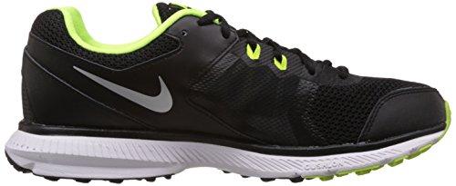 Nike Zoom Winflo, Scarpe da Corsa Uomo Black/Metallic Silver/Volt/Dark Grey