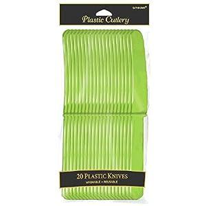 Amscan Internacional Cubiertos Cuchillos (Verde Kiwi, paquete de 24)