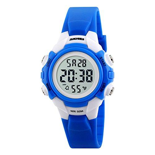Beswlz-Kinder-Sport-LED-Hintergrundbeleuchtung-Digital-Mdchen-Uhren-Alarm-50-m-Wasserdicht-Armbanduhr-Kinder-Uhr-Blau