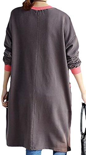 erdbeerloft - Damen Kuscheliges Oversized Sweatshirtkleid, Viele Farben Grau