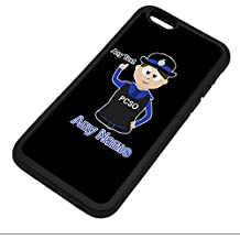 Personalised Gift - Police Community Support Officer iPhone 6 / 6s Case (Police Design Theme, Colour Options) - Any Name / Message on Your Unique - PCSO - Brown / Brunette Hair Policewoman Hat Cap
