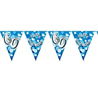 Fancy Dress VIP 4m Happy 60th Birthday Flag Banner Bunting Party Decoration