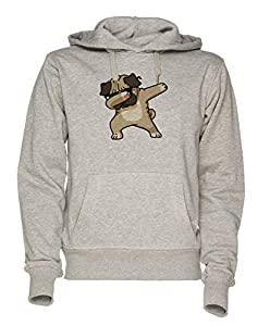 Jergley Abtupfen Mops Unisex Grau Sweatshirt Kapuzenpullover Herren Damen | Hoodie for Men and Women