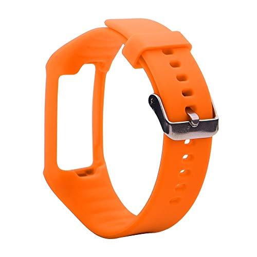 LUOFUSHENG Smartwatch-Uhrenarmbänder Silikon-Sporthandgelenksschlaufe for Polar A360 / A370 (Schwarz) Ersatzarmbänder (Farbe : Orange)