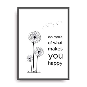 Kunstdruck MAKE YOU HAPPY Poster Bild Print ungerahmt DIN A4