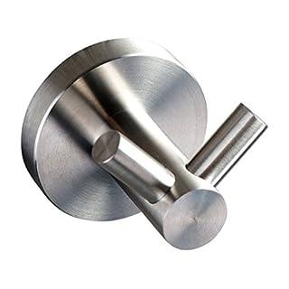 Ambrosya® | Exclusive towel rail with two stainless steel hooks | Bathroom Bathroom Hook Holder Bracket Towel Towel Hook Towel Rack Coat Hooks (Stainless Steel (Brushed))