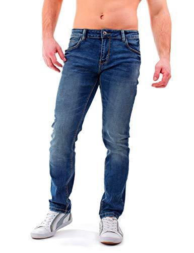Instinct Jeans Uomo Strappato Strappati Slim Fit Estivi Elasticizzati Denim Skinny Cotone WA96 (36/50, Blu_Regular Fit)