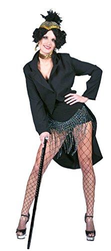 Karneval-Klamotten Frack Damen schwarz Damenfrack Karneval Damen-Kostüm Größe 44/46