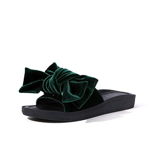 Arco Piatti Sandali E Pantofole/Portare La Moda Di Sandali Con La Suola Spessa A