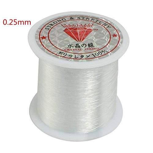AThumb 0,25mm Angelschnur Klar Nylon Fisch Angelschnur Spool Perlen String Schmuck Sicke Gewinde für DIY Crafting