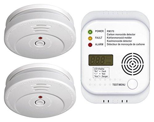 Smartwares Brandschutzset CO, 1 Stück, weiß, FSSCO-15
