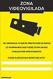 MovilCom - Señal de aluminio ZONA VIDEOVIGILADA   CAMARA VIGILANCIA 210X300mm homologado nueva legislación (ref.RD30942)
