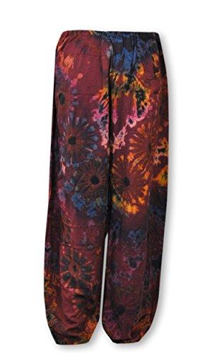 wifash Sommerbekleidung Lagenlook Weites Shirt Top Maxirock Bandeaukleid Pumphose Batik (42442 - Haremshose)