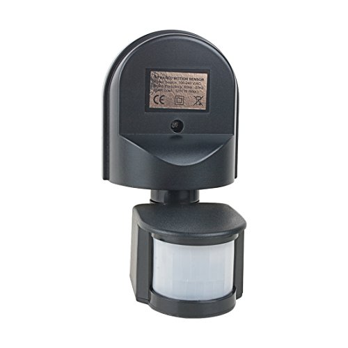 sourcingmap® AC 110V-240V verstellbar Infrarod Bewegungssensor PIR Detektor Schalter schwarz