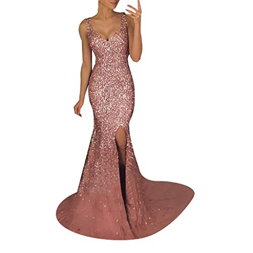 iLPM5 Damenmode Low Profile Luxuriöser Sommerkleid Tiefer V-Ausschnitt Sexy Slim Elegant Eng...