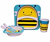 Purpledip Kids 5 pieces Dinner Set in Hi...