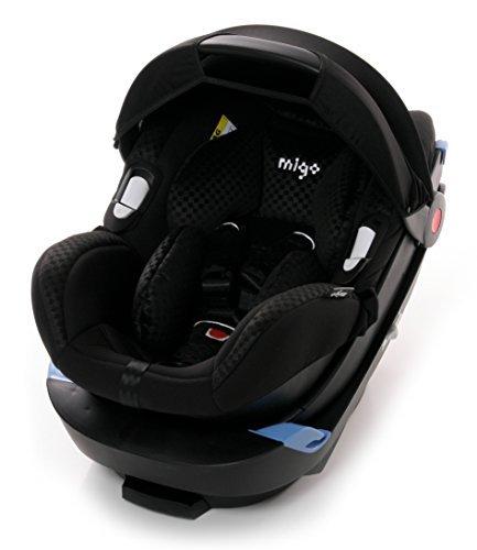 Migo 100-103-05 Babyschale Kindersitz Satellite, ECE Gruppe 0+, 0 bis 13 Kg, schwarz