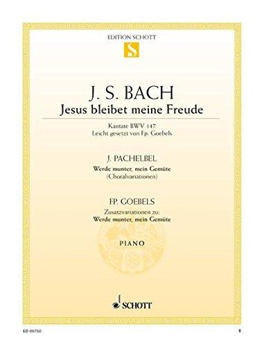 Jésus que ma Joie demeure BWV147 - Piano
