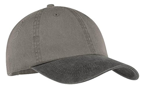 Port & Company® -Two-Tone Pigment-Dyed Cap. CP83 Pebble/ Black OSFA (Cp83-port)