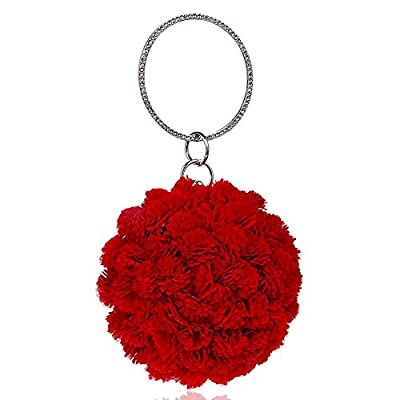 Delicate Stylish Women's Handbag Handmade Flower Evening Bag - clutches
