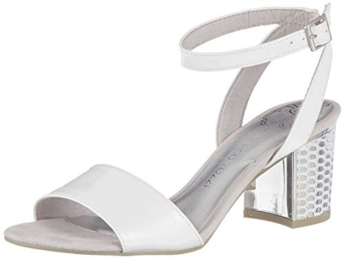 MARCO TOZZI 2-2-28313-22, Sandali con Cinturino alla Caviglia Donna, Bianco (White 100), 37 EU
