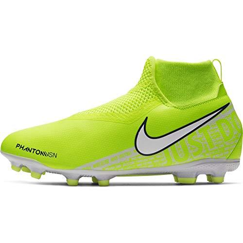 Nike jr. phantom vision academy dynamic fit mg, scarpe da calcio unisex-bambini, verde (volt/white/volt 717), 37.5 eu
