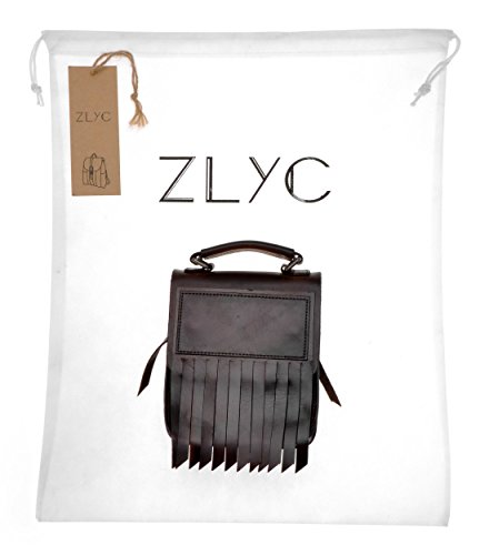 ZLYC, Borsa a spalla donna Marrone scuro 21 x 16 x 5.5cm Marrone scuro