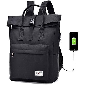 5a301fab44185d Chikencall Uomini Donne Zaino per Laptop da Scuola con Porta di Ricarica  USB Business College Daypack Borsa Anti furto Viaggi Escursionismo Borse a  Spalla ...