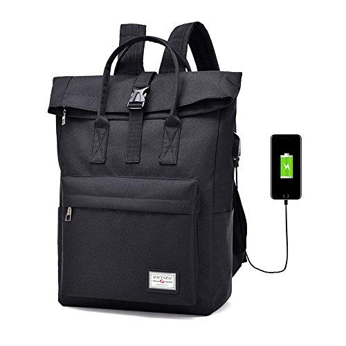 """Frauen Männer Business Laptop Rucksack mit USB Ladeanschluss Anti-Diebstahl Computer Tasche Wasserdicht Reisen Wandern Rucksack College Schule Tagesrucksack Schulter Taschen für 16,5"""" Laptop Notebook"""