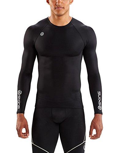 Skins Neue DNAmic Team L Slv Top Sport Kompressionsbekleidung Schwarz, Schwarz, M