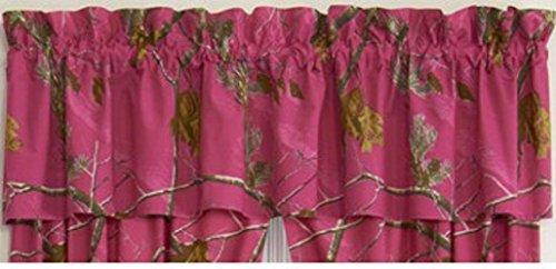 Realtree AP Camo, colore fucsia, rosa fucsia-Frappa arricciata per riloga 223,52 cm (88