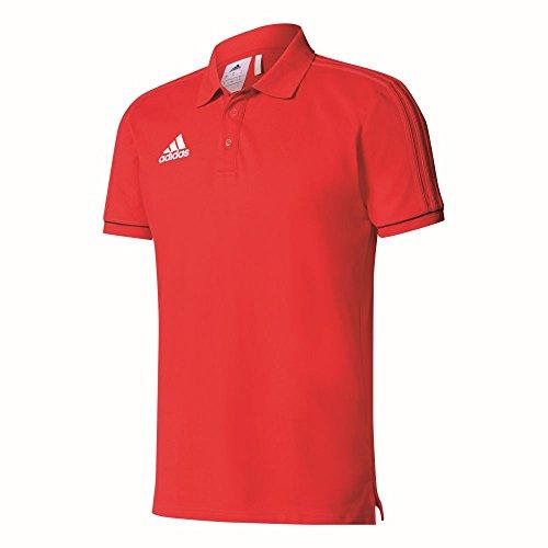 adidas Herren Tiro 17 Poloshirt, Scarlet/Black/White, M (Rot Polo-shirt Adidas)