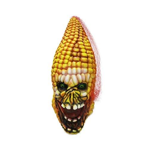 DBKIO Maschera Maschera di Mais in Lattice Malvagio con Testa di Verdura di Terroristi in Costume di Halloween