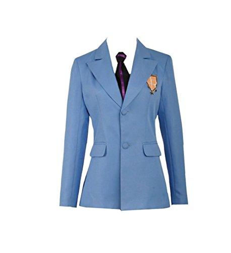 Ouran Host Highschool Club Kostüm - Anime Ouran High School Host Club Jacket und Krawatte Cosplay Kostüm für Erwachsene Gr. Weiblich XXL, as Photos
