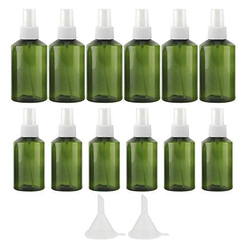 12 PCs 50ml 100ml plastique commode vide de maquillage cosmétique de voyage vaporisateur de bouteille atomiseur avec 2 petit entonnoir