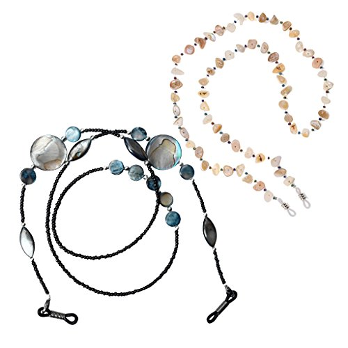 Sharplace 2Pcs Boho Beads Eyeglasses Beaded Chain Neck Cord Sunglasses Lanyard Straps