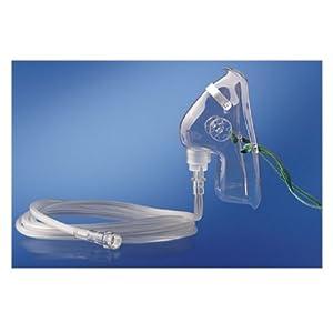 1 Stück Sauerstoffmaske für Erwachsene, mittlere Konzentration, Schlauch 213 cm