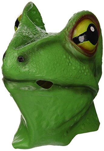 Bristol Novelty BM255 Frosch Maske, grün, Einheitsgröße