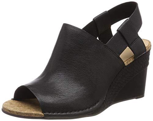 Clarks Damen Spiced Bay Geschlossene Sandalen, Schwarz (Black Leather), 38 EU -