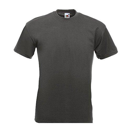 Fruit of the Loom - Heavy T-Shirt \'Super Premium T\' L,light graphite L,Light Graphite