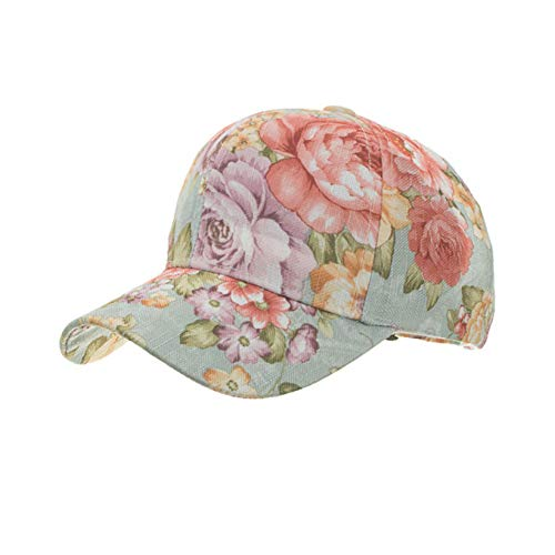 Yosrab Floral Print Women Peaked Baseball Caps Sports Summer Sun Hat Casual Snapback Woman Girls Visors