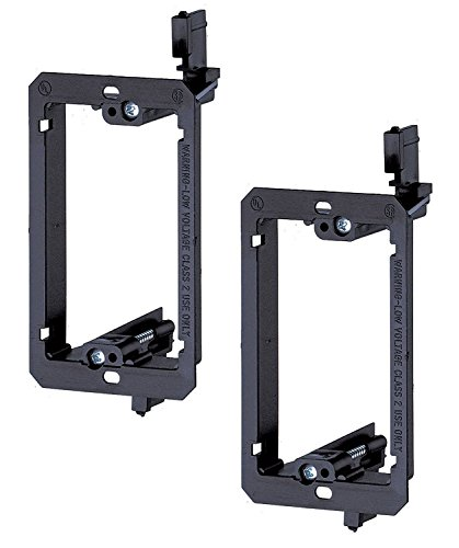 imbaprice-single-gang-1-gang-low-voltage-mounting-bracket-black-pack-of-2