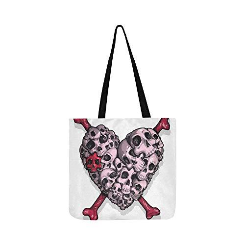 Valentinstag Süße Taro In Love Canvas Tote Handtasche Schultertasche Crossbody Taschen Geldbörsen Für Männer Und Frauen Einkaufstasche