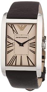 Reloj Emporio Armani AR2032 de cuarzo para hombre con correa de piel, color marrón de Emporio Armani